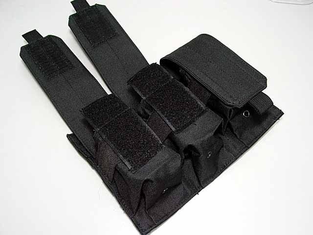 US SWAT Airsoft Molle Triple Magazine Pouch BK
