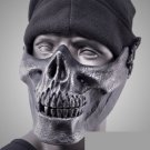 Skull Airsoft Paintball BB Gun half Face Protect Mask