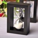 Black wood  sand clock Hourglass Timer 10 mins decor