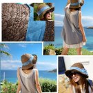 Women's Vintage Straw Fedora Hat Cuban SummeR Beach Hat