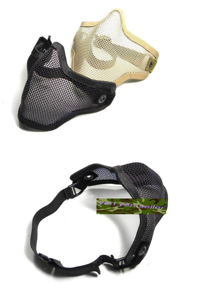 Stalker Type Half Face Metal Mesh Protector Mask