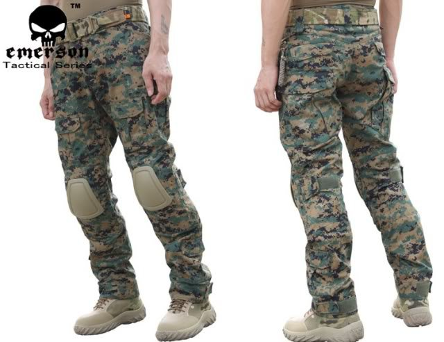 Tactical Combat Pants w/Knee Pads Digital