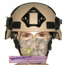 Mich Helmet with NVG Mount & Side Rail Tan