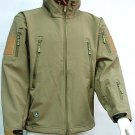 Stealth Hoodie Shark Skin Soft Shell Parka Jacket Tan
