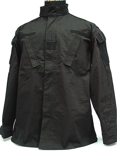 SWAT Airsoft Black BDU Uniform Set Shirt Pants S