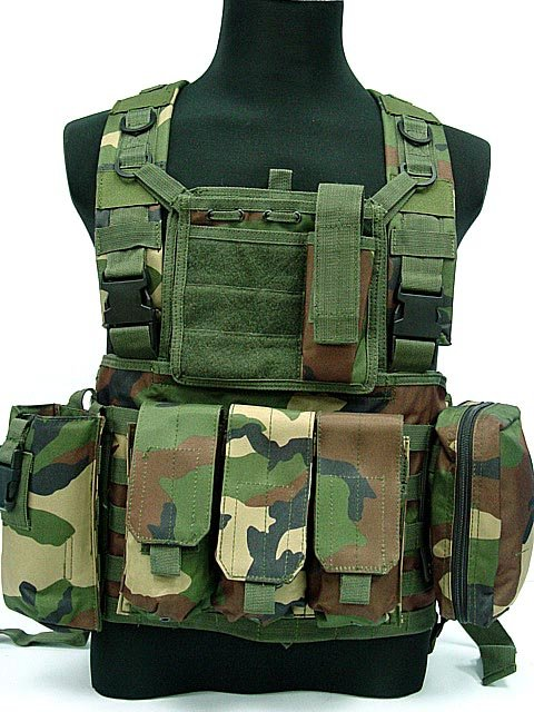 FSBE LBV Load Bearing Molle Assault Vest Camo Woodland