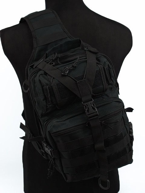 Tactical Molle Utility Gear Sling Bag Backpack Black L