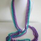 NWOT plastic bead purple aqua blue necklace lot of 3