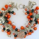 Dog Poodle Labrador Orange Peach and Black Charm Bracelet