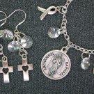 Archangel St. Raphael Medal Healing Charm Bracelet Earrings