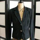 NWT Kupcake black velour rhinestone button blazer jacket medium