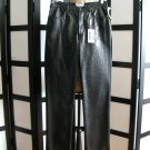 Iceberg Jeans pants black pleather snake print pants size 28