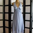 Donna Rico New York purple silk chiffon empire halter dress size 8