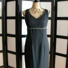 Positive Attitude black aqua lining rick rack empire dress size 6