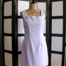 Rag light purple square neck satin neckline sheath dress size 7