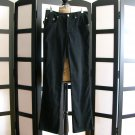 Cavaricci black microfiber stretch jean pants size 5