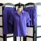Sakura Sport purple cotton gauze top skirt skort set size 10, 8