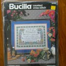 Bucilla A Gardener's Prayer Flower Counted Cross Stitch Kit # 40583