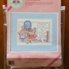 From the Heart I See The Moon baby teddy bear counted cross stitch kit 53545