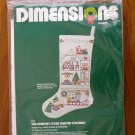 Dimensions The Country Store Christmas stocking crewel kit # 8039