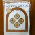 Leisure Arts Canvas Capers ribbon magnets plastic canvas kit 212