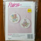 Golden Bee Pairs bunny rabbit pastel counted cross stitch kit # 60503