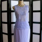 Casual Corner purple silk pencil skirt size 8 and lace sleeveless top S/P set