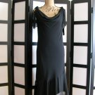 AGB Byer California black cowl neck sheath dress size 8