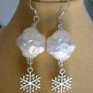 Snowball Snowflake Charm Earrings