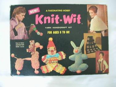Vintage Knit-Wit yarn handicraft kit