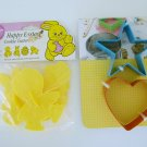 Wilton happy easter plastic cookie cutter lot and metal heart star