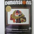 Dimensions Patchwork Mushrooms crewel kit needlepoint Lynn Kowitz 6030