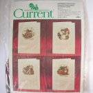 Current Critters counted cross stitch kit christmas cards raccoon bunny mouse deer