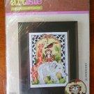 Artiste mini cross stitch kit jungle animal tiger elephant giraffe 981498