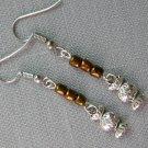 Candy Charm Brown Glass Bead Earrings
