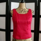 Jessica Howard Petite red princess seams sleeveless top size 4P