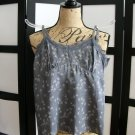 American Eagle Outfitters grey flower empire silk lace cami top size 2