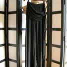 Can't Miss black draping dress pants wide leg small