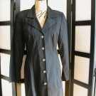 Retro Forenza black tapered princess seam jacket coat size 10
