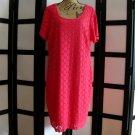 Ronni Nicole coral orange lace eyelet short sleeve sheath dress 1X