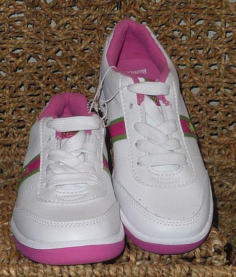 Ralph Lauren Girls White Fuschia Shoes Size 3 NEW!!
