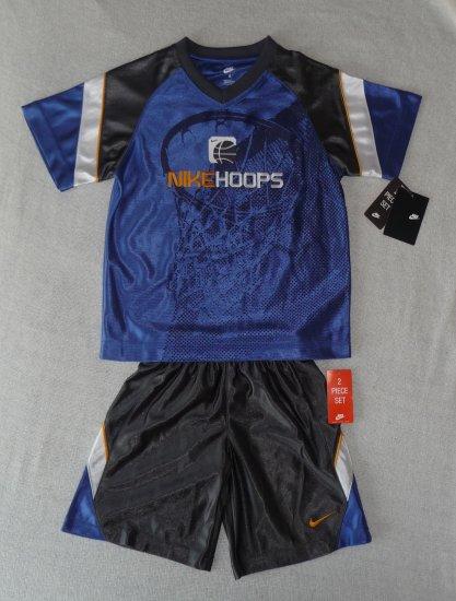 Nike Boys 2 piece Blue Basketball Outfit Size 4 NWT