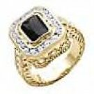 SWAROVSKI Black Ring...NEW SZ 8