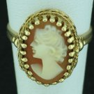 Birks 10K Yellow Gold Cameo Ring Srin2015