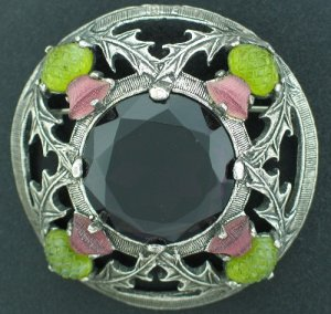 Scottish Thistle Brooch Signed Miracle Bro2182