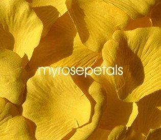 Petals - 1000 Silk Rose Petals Wedding Favors - Solid Colors - Yellow