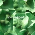 Petals - 1000 Silk Rose Petals Wedding Favors -  Two Tone - Light/Dark Green