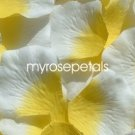 Petals - 1000 Silk Rose Petals Wedding Favors -  Two Tone - Yellow/White