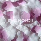 Petals - 200 Silk Rose Petals Wedding Favors -  Two Tone - Dusty Rose/White