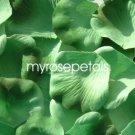 Petals - 200 Silk Rose Petals Wedding Favors -  Two Tone - Light/Dark Green